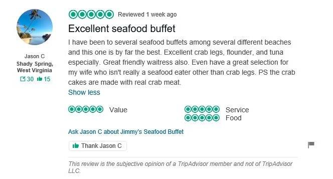 Seafood buffet Outer banks