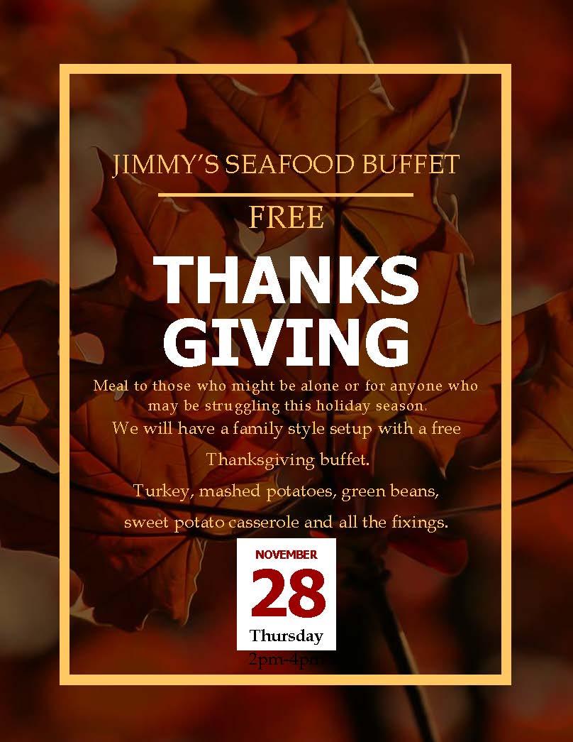 Thanksgiving Charity Buffet