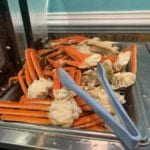 Jimmy's seafood buffet cooked crab legs